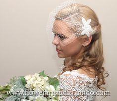 Brautschleier+mit+Perlen,+Weiße+Hochzeit+Schleier.+von+Allerode+auf+DaWanda.com
