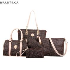 32.16$  Watch more here - http://aimrl.worlditems.win/all/product.php?id=32504112797 - BILLETERA Women Handbags Genuine PU Women Shoulder Bag Women Big Volume Composite Bag Set Blosas