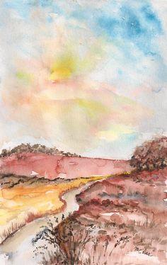 """""""pomeriggio di agosto"""" watercolor by M.Cristina De Amicis"""