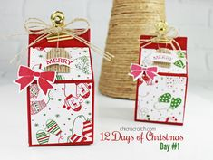 Day 1 of the 12 Days of Christmas featuring Holly Berry Happiness Stamp Set and Be Merry Designer Series Paper https://mychicnscratch.com/2017/11/days-christmas-2017.html