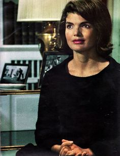 "A Stunning Picture of the Newly Widowed Jackie Kennedy That First Appeared In ""Look"" Magazine's Serialization of Manchesters' ""Death of A President""...Jackie Had Sat With Manchester For Hours of Very Personal Interviews For The Book, Only For She & RFK To Sue, Unsuccessfully, To Stop The Books Publishing..."