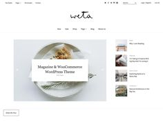 Magazin und WooCommerce Shop WordPress Theme Weta