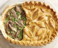 Lamb shank, pea and mint pie