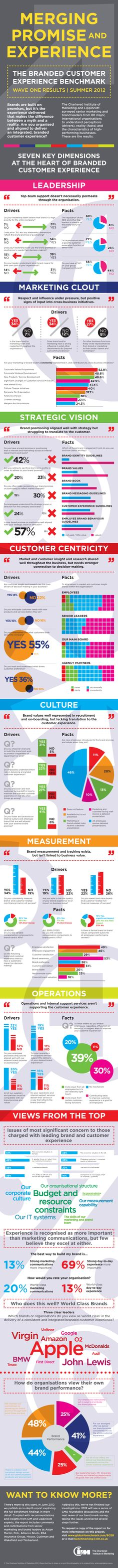 Infographic from CIM - Branded Customer Experience Benchmark wave one results