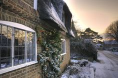 Thatched Roofs, Broughton, Cambridgeshire. HDR by mmayson, via Flickr
