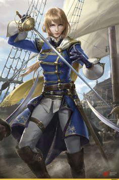 art барышня,красивые картинки,pirate,Chen Guan Yu,mary read