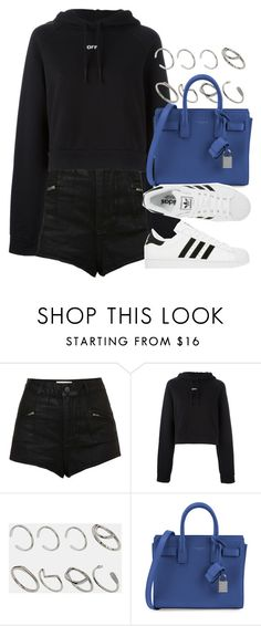 """Style #11637"" by vany-alvarado ❤ liked on Polyvore featuring Topshop, Off-White, ASOS, Yves Saint Laurent and adidas"