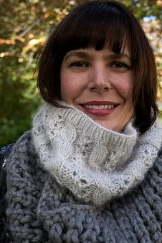Perfect for winter white days...Ravelry: Fresh Powder Cowl pattern by Helen Stewart