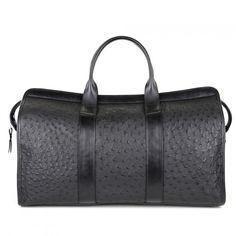 Ostrich Travel Duffle Bag | Handmade Ostrich Travel Bags & Weekender Bags |  Frank Clegg