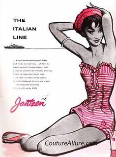 Love the color scheme and fonts | #vintage #fashion #illustration