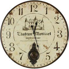 Horloge ancienne balancier - Chateau-Moulinet
