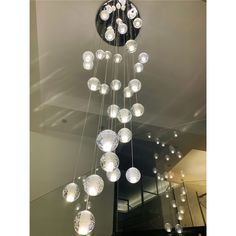 Glass Ball LED Pendant light Contemporary Transparent Ball Ceiling Light Energy Saving Living Room Lighting Idea Led Pendant Lights, Pendant Lighting, Room Lights, Ceiling Lights, Contemporary Pendant Lights, Ball Lights, Living Room Lighting, Glass Ball, Crystal Ball