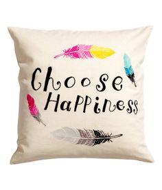 'Choose happiness' - cojín de H&M Home