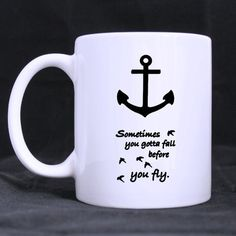 Anchor sometimes you got a fall best Custom White Mug >> Want to know more, visit the site now : Cat mug