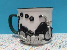 Jarra .taza . moto . porcelana fría