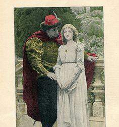 1895 The Lover's Declaration Medeival by HeatherwoodArtPrints, $8.50