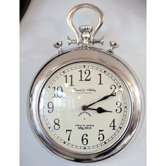 Pocket watch wall clock.. cute