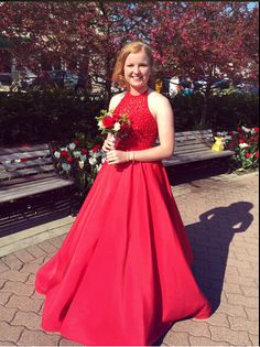 Red Prom Dress,Ball Gown Prom Dress,Beaded Bodice Prom Gown,Princess Prom Dresses,Sexy Evening Gowns,2016 New Fashion Evening Gown,Red Party Dress For Teens
