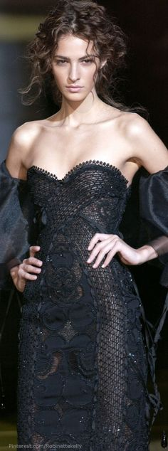 CoCo is Haute - phe-nomenal: Elie Saab Spring 2006 Couture Style Couture, Couture Fashion, Runway Fashion, Elie Saab Couture, Fashion Moda, High Fashion, Petite Fashion, Curvy Fashion, Fall Fashion