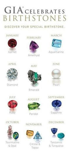 Birthstone Colors for each month Promise rings, Ring and Birth - birthstone chart template