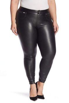 Hue Leatherette Faux Leather Leggings (Plus Size) Leather Leggings Plus Size, Spanx Leather Leggings, Latex Wear, Plus Size Inspiration, Plus Size Fall Outfit, Hue, Girls In Leggings, Sexy Heels, Nordstrom Rack