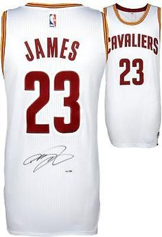 f60fcda78 LeBron James Cleveland Cavaliers Autographed White Authentic Jersey - Upper  Deck  Basketball