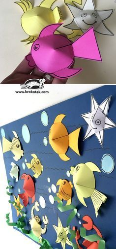 Read more about easy art crafts for kids Sea Crafts, Diy And Crafts, Arts And Crafts, Paper Crafts, Projects For Kids, Diy For Kids, Craft Projects, Crafts For Kids, Craft Ideas