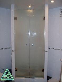 Frameless Shower Door #Frosted #Glass