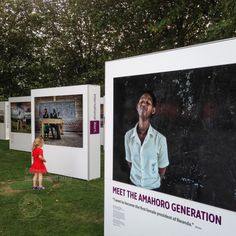 The Amahoro Generation by Carol Allen Storey for International Alert. The outdoor exhibition is at the Bernie Spain Gardens, Riverside Walksway (by Oxo Tower Wharf), South Bank, London. September 18, 2014. Photo: Edmond Terakopian