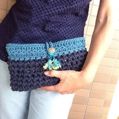 crochet clutch bag