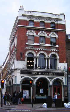 Hope and Anchor Pub, Islington, London. Great venue for bands back in the 70's and 80's....