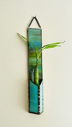 Stained Glass Bamboo Plant Wall HangingMulti Colored by miloglass