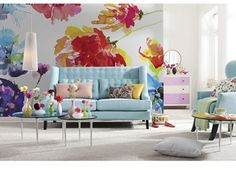 Wallpops 'Passion' Floral Wall Mural (8-Panel)