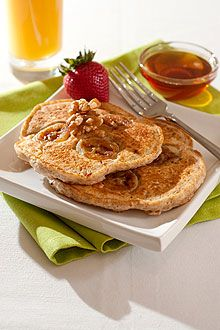 Easy Chiquita Banana Pancakes Recipe    Give packaged pancake mix a banana boost, toss in some walnuts and you've got a new breakfast star.