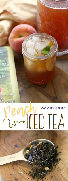 Easy homemade peach-infused simple syrup turns freshly brewed black tea into a the perfect summer sipper. Eat A Peach, Peach Ice Tea, Perfect Cup Of Tea, Simple Syrup, Tea Recipes, Iced Tea, Coffee Drinks, Vegan Gluten Free, Roads