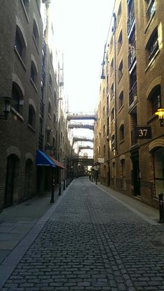 Cobbled back streets of London
