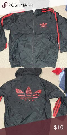 493fcd6ec13 Boys sz 8-10 Old School Adidas spring jacket FREE shipping on bundles $50 or