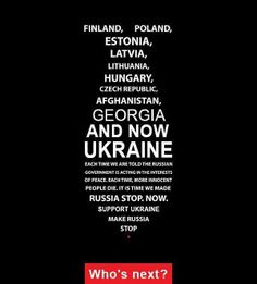 #Finland #Poland #Estonia #Latvia #Lithuania #Hungary #CzechRepublic #Afghanistan #Georgia now #Ukraine who's next? #stoprussia