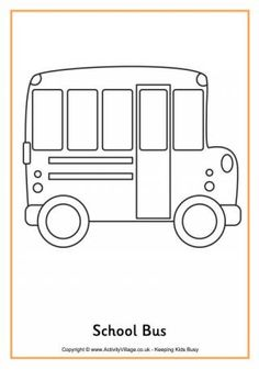 School Bus Colouring Page 2