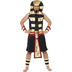 ">Pharaoh Costume Skirt Headpiece Belt Arm and Leg Cuffs >Medium fits chest 38-40"". Large fts chest 42-44""."
