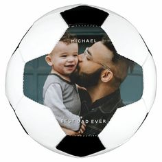 Father's Day Dad With Baby Custom Photo Message Soccer Ball - tap/click to personalize and buy #SoccerBall #soccer, #fathers #day, #custom #day Old Fashioned Games, Soccer Theme, Family Fun Night, Themes Photo, Personalized Photo Gifts, Sports Gifts, Father And Son, Best Dad, Custom Photo
