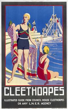 ENGLAND - LINCOLNSHIRE - Cleethorpes - Swimming Pool Art Print by National Railway Museum at King & McGaw