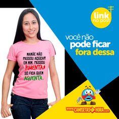 Camiseta---Passou-pimenta : Lançamento Camiseta Mamãe não passou açúcar em mim. Passou Pimenta só fica quem Aguenta.  http://www.camisetasdahora.com/p-4-109-4375/Camiseta---Passou-pimenta | camisetasdahora