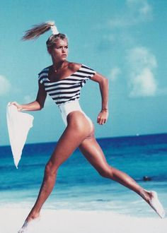 Yolanda Foster #Summer #Inspiration I remember this shot it was in the 80's or late 70's.