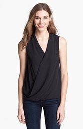 Vince Camuto Sleeveless Faux Wrap Top