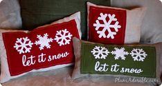 DIY Stenciled Burlap Pillows
