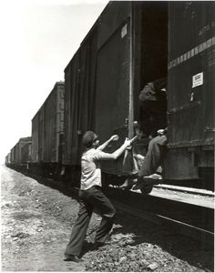 Train Hopping....get on in one place...get off somewhere unknown. Adventure.