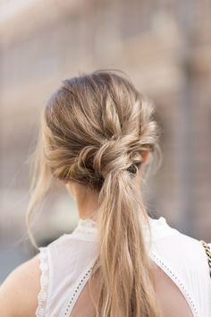 Blonde braid. @thecoveteur