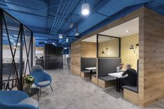 M Moser Associates completed the offices for technology company TiVo, located in Warsaw, Poland. Technology company TiVo required a workplace that would Corporate Interiors, Office Interiors, Booth Seating, Glass Partition, Office Interior Design, Commercial Interiors, Warsaw, Furniture Design, Lounge