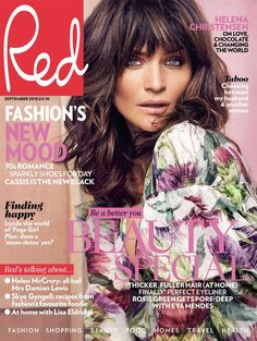 Helena Christensen for Red Magazine by Max Abadian